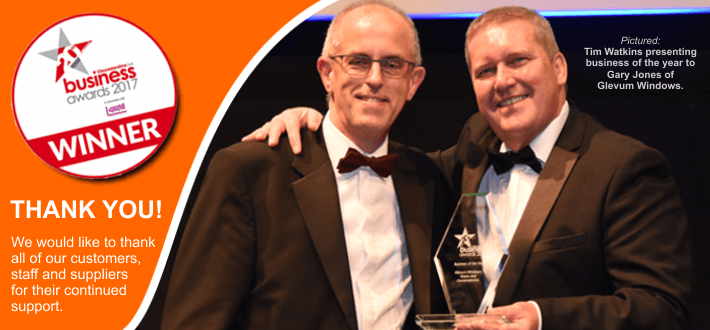 Winner of the Business of the Year Awards 2017 (Gloucestershire)