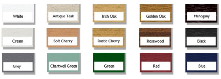 Colour window frames